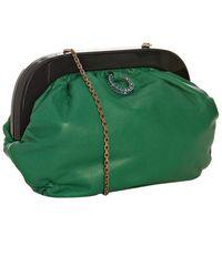 Lanvin Green Lambskin Enamel Frame Shoulder Bag - Lyst