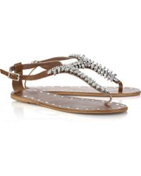 By Malene Birger - Glitsie Embellished Leather Sandals - Lyst