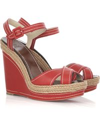 Christian Louboutin Almeria 120 Wedge Sandals - Lyst