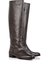 Michael Kors Flat Leather Knee-high Boots - Lyst