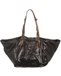 Pauric Sweeney - Sequin Panel Leather Tote - Lyst