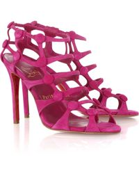 Christian Louboutin Neuron 100 Suede Sandals - Lyst