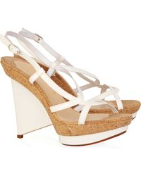 Christian Louboutin Mimi 100 Leather Sandals - Lyst