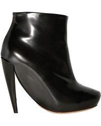 Maison Margiela 100mm Leather Low Boots - Lyst