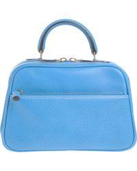 Valextra Medium S Line Top Handle Bag - Lyst