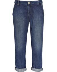 Current/Elliott The Captain Low-rise Cropped Jeans - Lyst