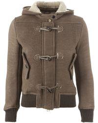 Dacute - Shearling Hood Jacket - Lyst