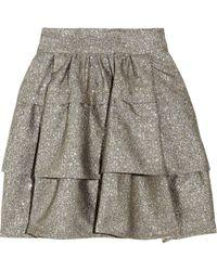 Diane von Furstenberg Bolo Metallic-tweed A-line Skirt - Lyst