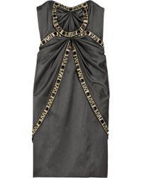 Temperley London Mini Fabiana Crystal-embellished Silk-satin Dress - Lyst