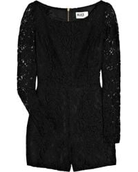 Alice By Temperley Lace Playsuit black - Lyst