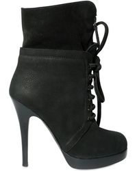 Giuseppe Zanotti 120mm High Suede and Nabuk Lace-up Boots - Lyst
