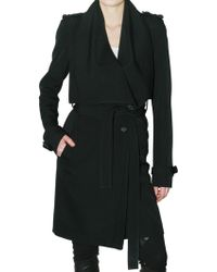 Givenchy - Wool Grain De Poudre Trench Coat - Lyst