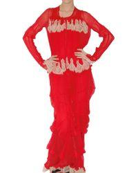 Meadham Kirchhoff - Transparent Chiffon and Lace Dress - Lyst