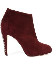 Brian Atwood Boots red - Lyst
