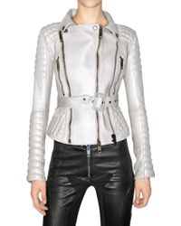 Burberry Prorsum Quilted Biker Leather Jacket - Lyst