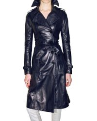 Burberry Prorsum Soft Leather Trench Coat - Lyst