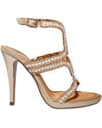 Rene Caovilla 115mm Mother Of Pearl Swarovski Sandals - Lyst