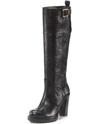 Tory Burch Marit Tall Boots with Buckle - Lyst