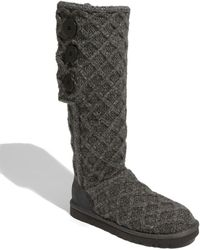 Ugg Wool Lattice Cardy Boots - Lyst