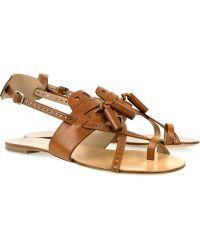 Proenza Schouler Tasseled Leather Sandals - Lyst