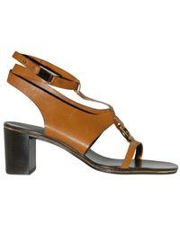 Ferragamo 55mm Calfskin Sandals - Lyst