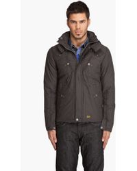 G-Star RAW Recolite Quilted Hooded Overshirt - Lyst