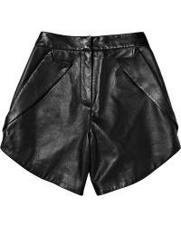 Alexander Wang Pocket-embellished Leather Shorts black - Lyst