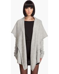 Wayne - Hooded Loose Sweater Jacket - Lyst