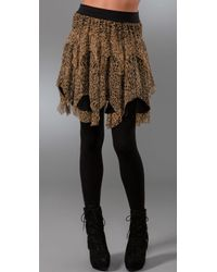 Catherine Malandrino - Raw Edge Shredded Skirt - Lyst