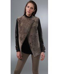 GAR-DE - Leather-sleeve Shearling Jacket - Lyst