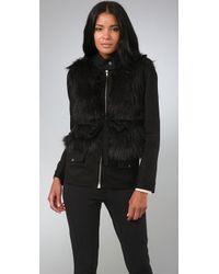 Loeffler Randall - Faux Fur Military Jacket - Lyst