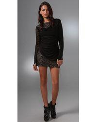 L.A.M.B. - Lace Long Sleeve Dress - Lyst