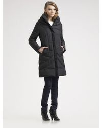 Cole Haan Quilted Down Parka - Lyst
