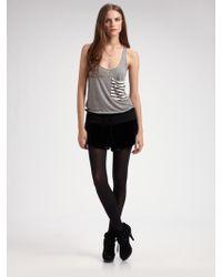 Erin Kleinberg - Silk Velvet Drawstring Shorts - Lyst