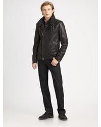 Mackage Leather Motorcycle Jacket - Lyst