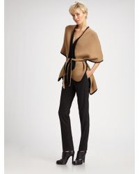 TSE - Two-tone Belted Cape - Lyst