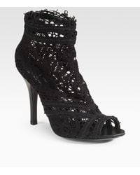 Dolce & Gabbana Lace Ankle Boots black - Lyst