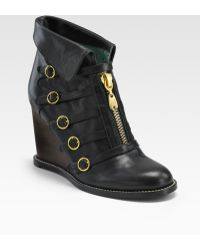 See By Chloé Zip-up Wedge Ankle Boots - Lyst
