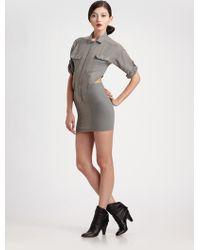 Seneca Rising - Cut-out Shirt Dress - Lyst
