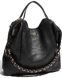 Bcbgmaxazria Black Leather 'Amelie' Large Slouchy Shoulder Bag 85