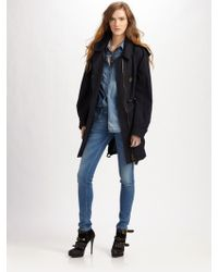 Burberry Brit Hooded Cotton Parka - Lyst
