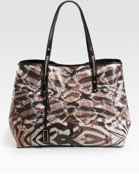 Jimmy Choo Scarlet Exotic Print Coated Canvas Tote - Lyst