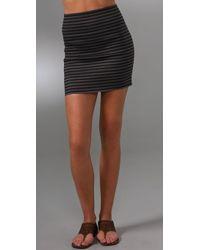 Pleasure Doing Business 4 Band Miniskirt gray - Lyst