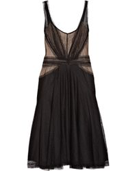 Zac Posen Tulle and Lace Dress black - Lyst