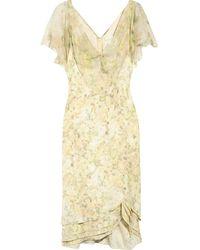Zac Posen Buttercup-print Silk-crepe Dress - Lyst
