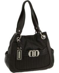 B. Makowsky Buckle Front Leather Shopper - Lyst