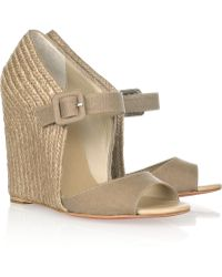 Christian Louboutin Panier 120 Wedge Sandals - Lyst