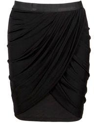 Lublu Mini Drape Skirt - Lyst