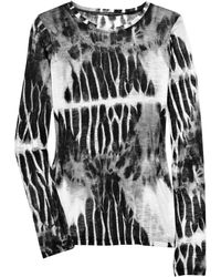 Proenza Schouler Tie-dye Cotton-jersey T-shirt - Lyst