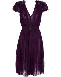 Bottega Veneta Dress with Embroidered Shoulders - Lyst
